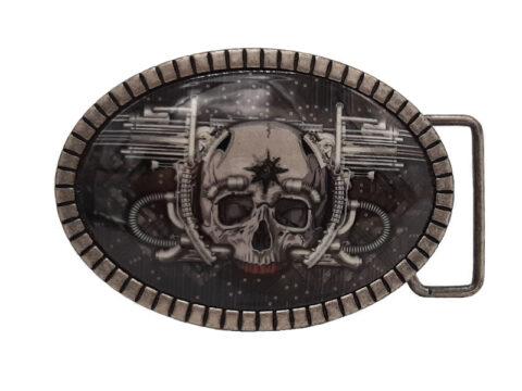 Gürtelschnalle Buckle Skull Blaster
