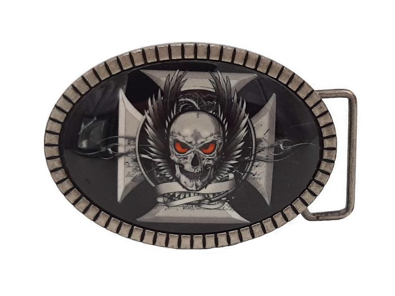 Gürtelschnalle Skull Cross