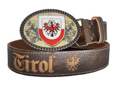 Trachtengürtel Tirol Premium braun