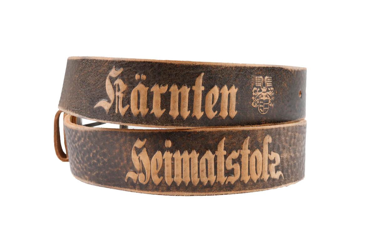 Heimatstolz-Kärnten Gürtel mit Dornschnalle