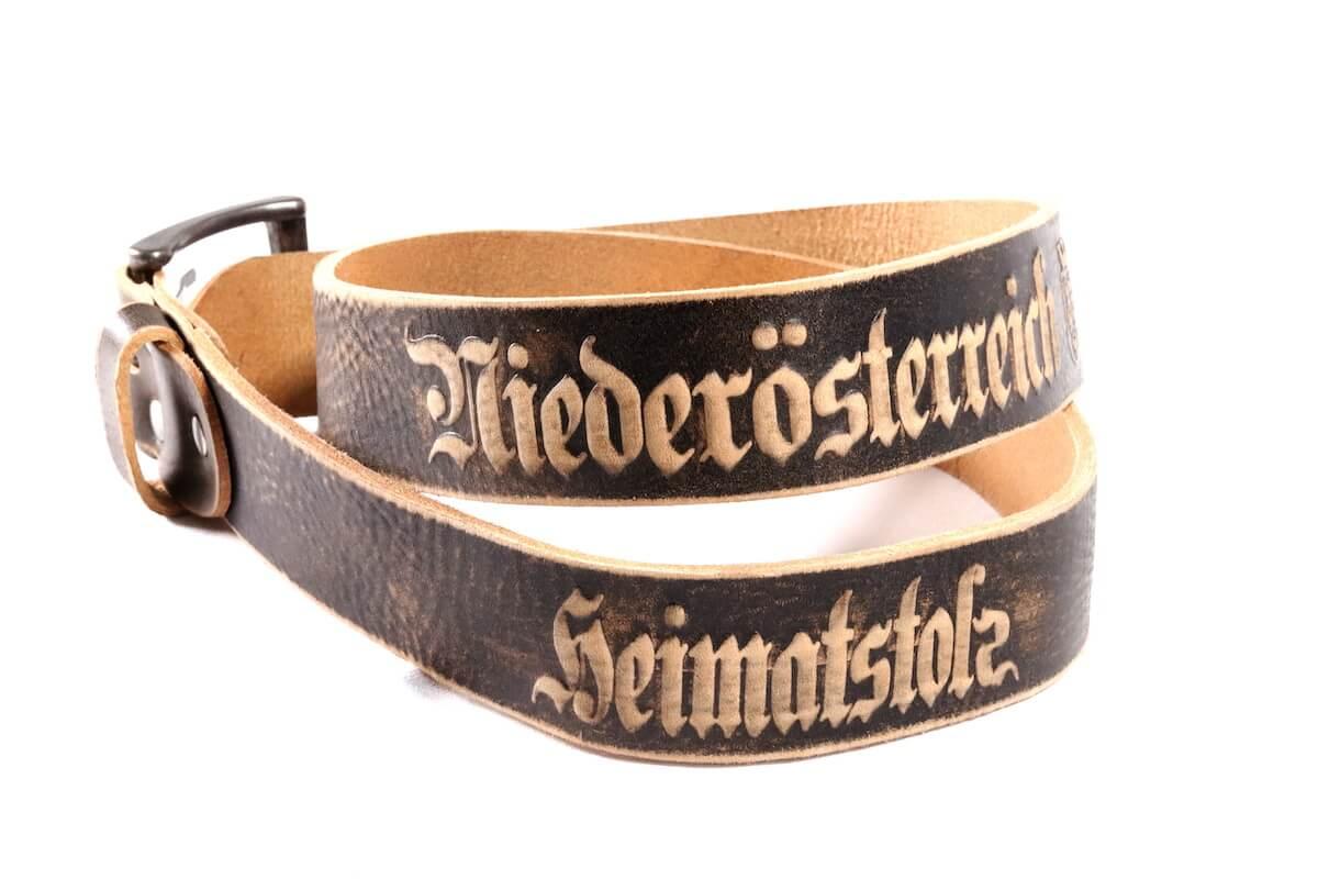 Heimatstolz-Niederösterreich Gürtel mit Dornschnalle