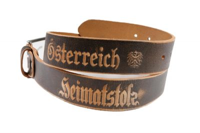 Heimatstolz Österreich Gürtel mit Dornschnalle