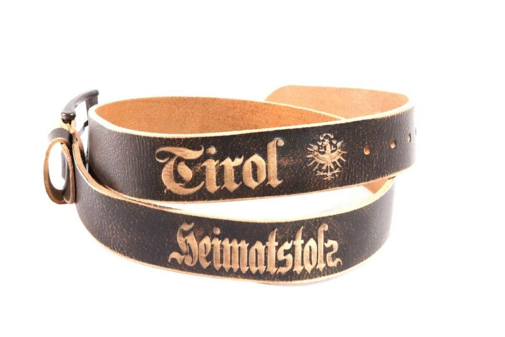 Heimatstolz-Tirol Gürtel mit Dornschnalle