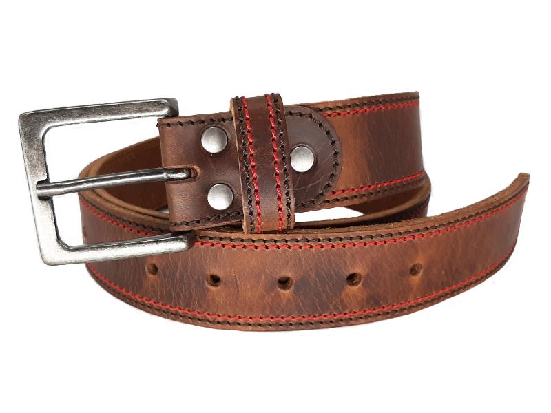 Ledergürtel für Herren mit Dornschnalle und Vintage rugged Leder