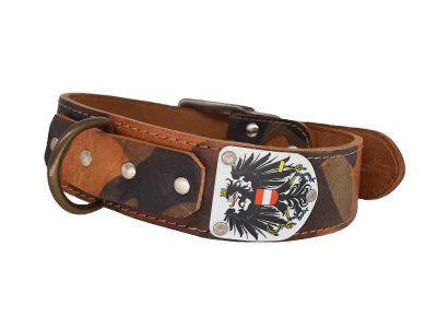 Lederhalsband für Hunde mit Österreich Adler Wappen