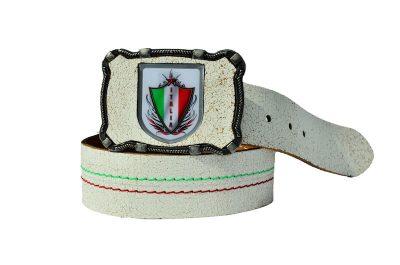 Italien Ledergürtel bianco
