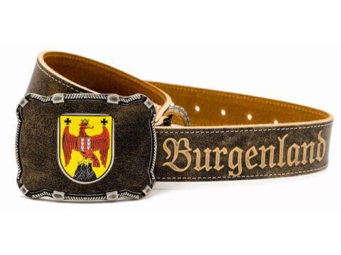 Burgenland Gürtel Deluxe mit Wappen