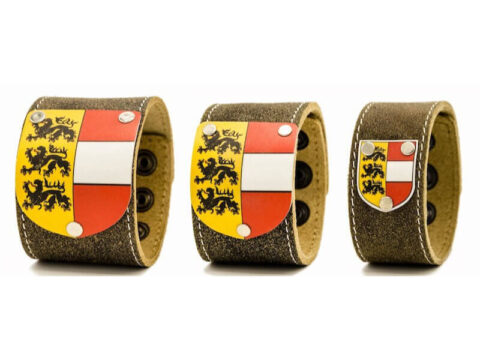 Armband Leder braun mit Kärnten Wappen