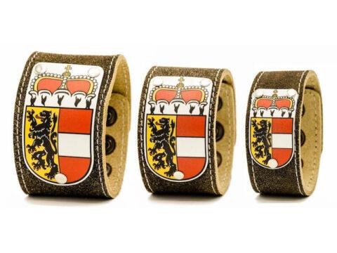 Kronigs Lederarmband mit Salzburg Wappen