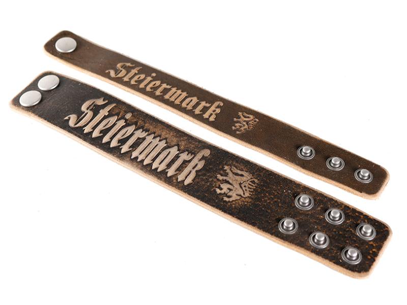 Armband mit Steiermark Lederprägung