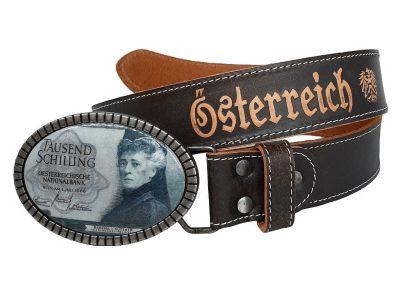 Ledergürtel 1000 Schilling Bertha von Suttner