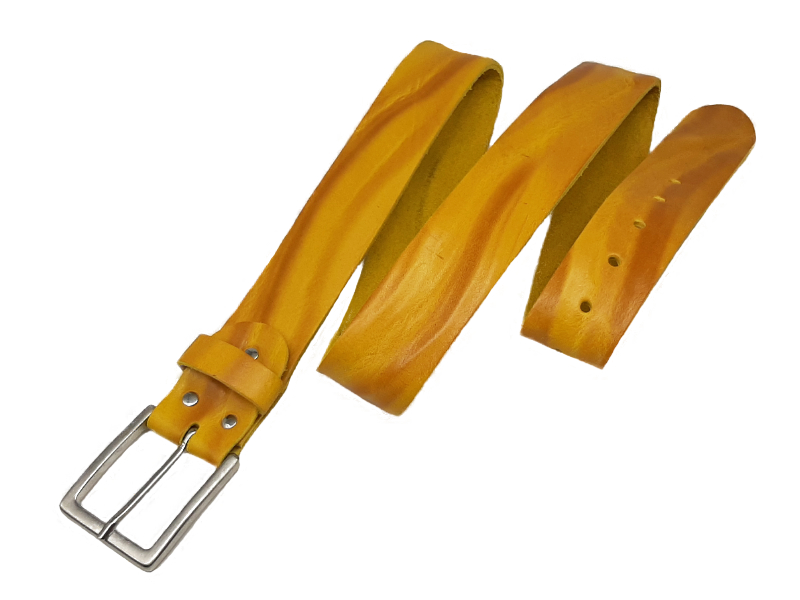 Designer Ledergürtel Fellini giallo