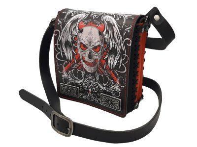 Ledertasche Rising Skull mit Totenkopf Design