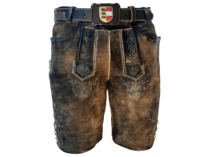 Lederhose im Used Look und Gürtel Kärnten