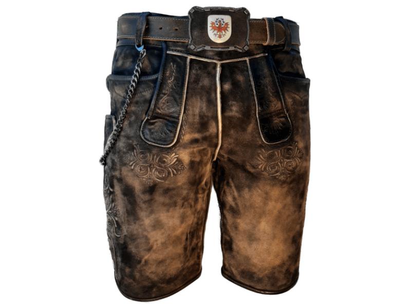 moderne Lederhose mit Gürtel Tirol