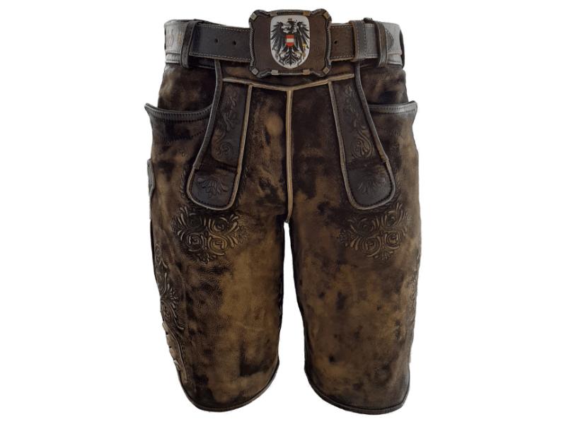 Trachten Lederhose mit Gürtel Austria