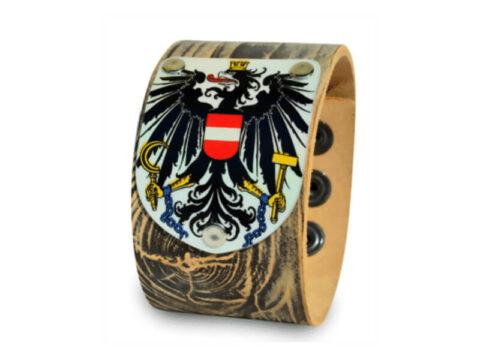 Armband in Holzoptik mit Österreich Wappen