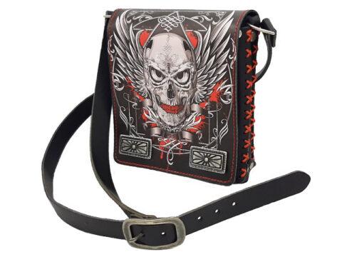 Umhänge Tasche Gothic Nova mit Totenkopf